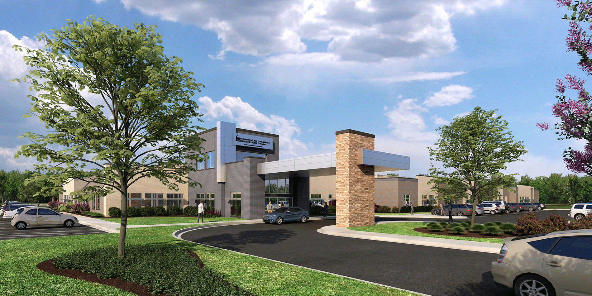 University of Iowa Rehabilitation Hospital rendering