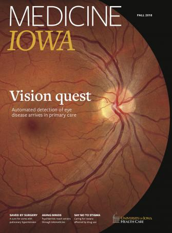image of the cover of Medicine Iowa Magazine's fall 2018 issue